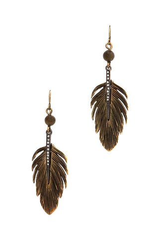 antique brass feathers