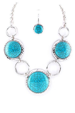 linked in turquoise set