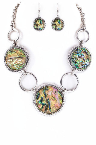 linked in abalone set