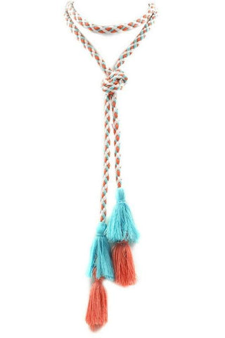 woven in color lariat
