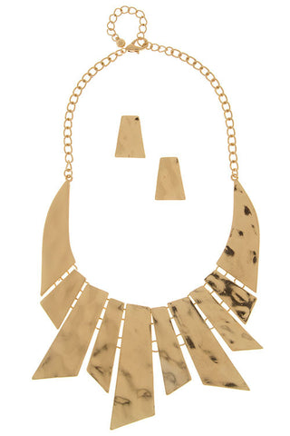 artist plated necklace set