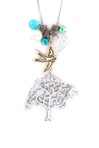 happy tree charm pendant