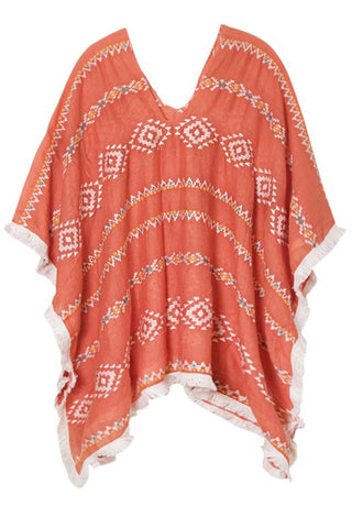 sandscape tunic in coral