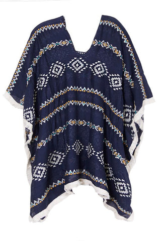 sandscape tunic in navy
