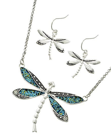 crafted in silver dragonfly set
