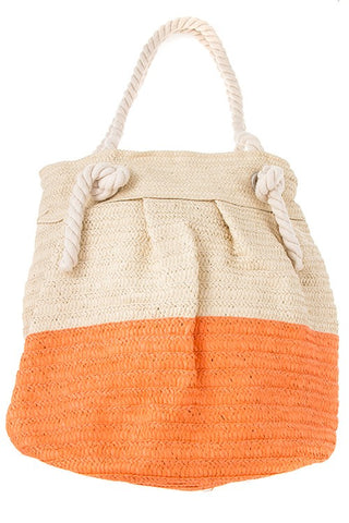 straw color pop tote