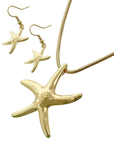 high polished starfish in gold