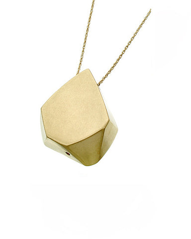 matted cube sculpt in gold