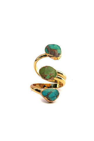 triple gold turquoise wrap