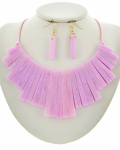 summer's lucite set in pink