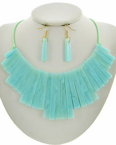 summer's lucite set in teal