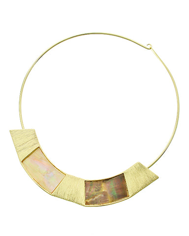 golden mother of pearl collar