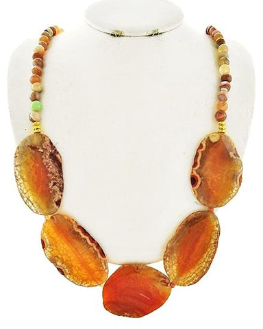 tangerine agate necklace