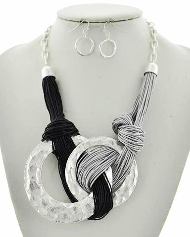 knotted in silver set