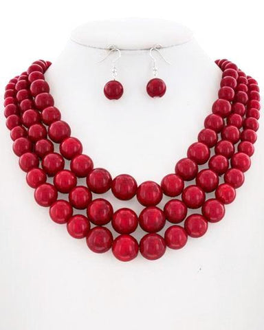 beach baubles in red
