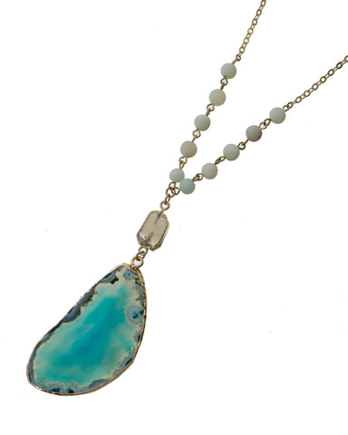turquoise agate drop