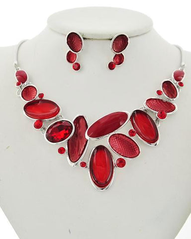 jeweled in red set