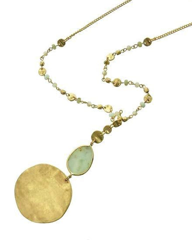 semi precious gold disc