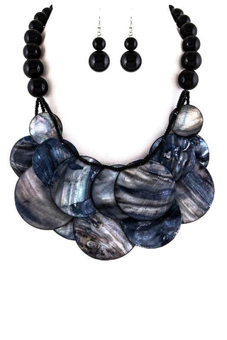 moonlight shell set in black