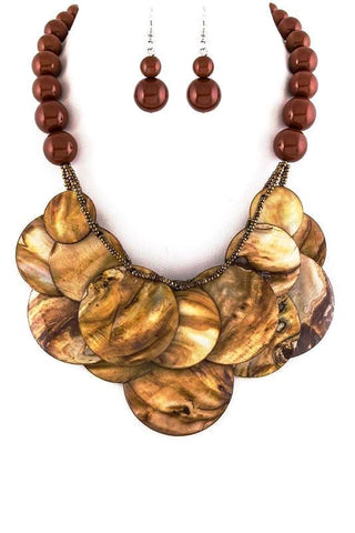 moonlight shell set in brown