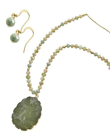 gentle jade beaded set