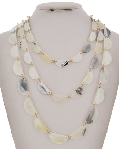 ivory acetate layered necklace