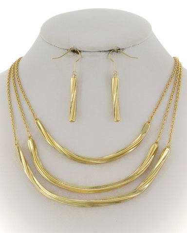 twisted gold set