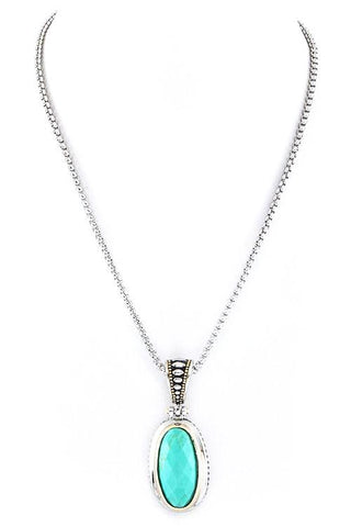 marquise accent turquoise pendant