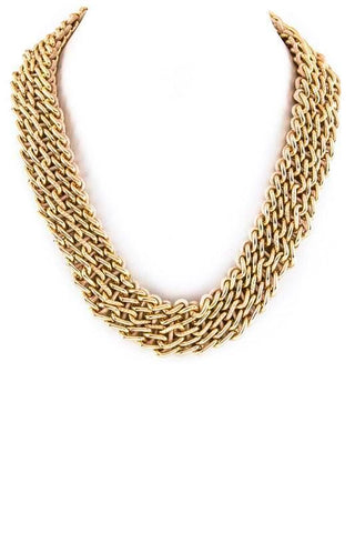 laced gold chain