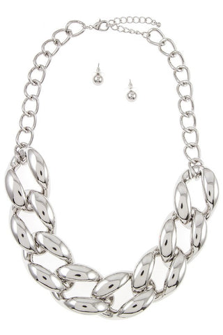 the high polished chain necklace