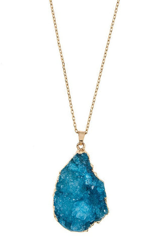 holiday druzy drop in blue