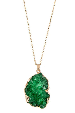 holiday druzy drop in green