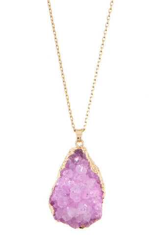 holiday druzy drop in pink