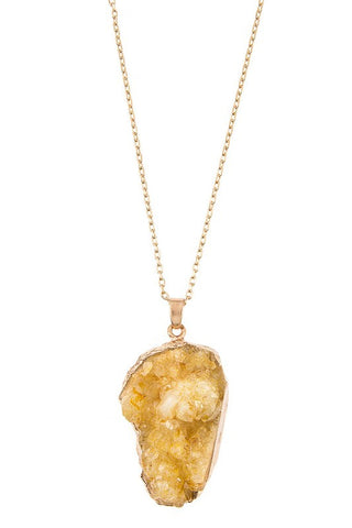 holiday druzy in butterscotch