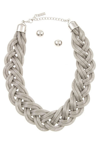 luxe braided mesh in silver