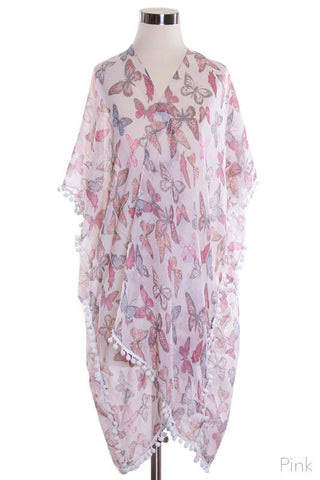 sweetheart butterfly wrap in pink