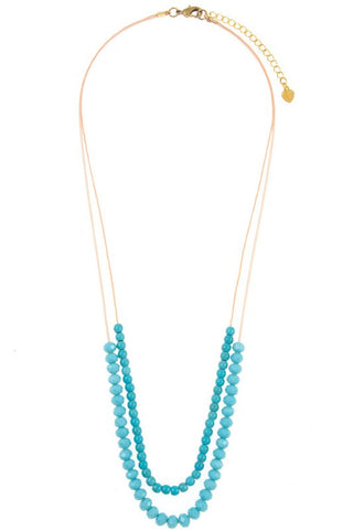 glass cabo in teal necklace