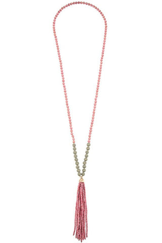 candied cancun tassel necklace