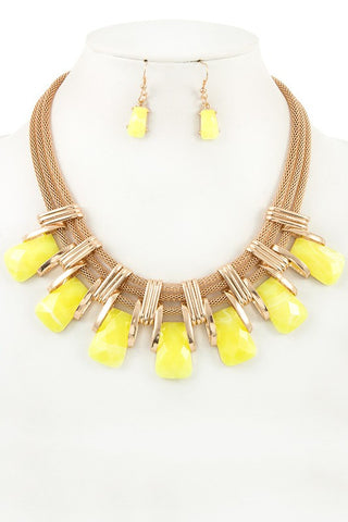 candied box chain set in yellow