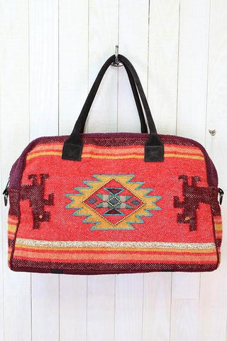santa fe motif flight bag