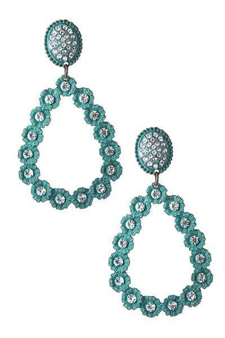 marquise turquoise teardrops