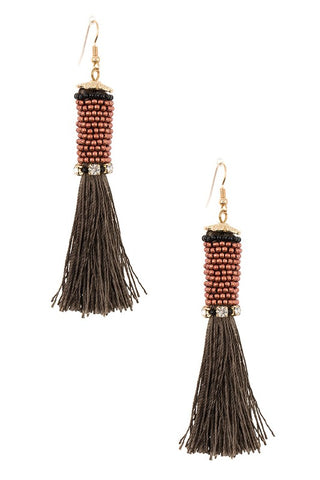 hand wrapped tassel drops