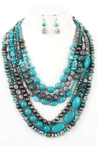 natural in turquoise & granite