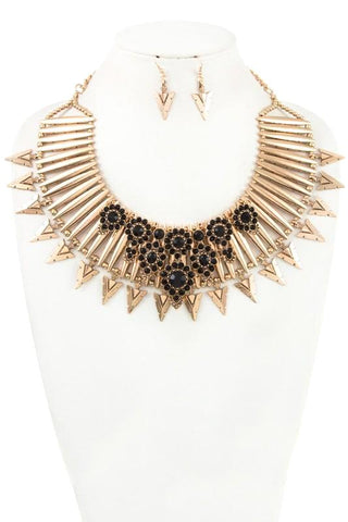 the cleo fringe collar