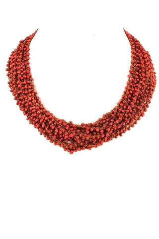 tropical seed bead collar
