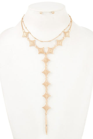 diamond center filigree lariat