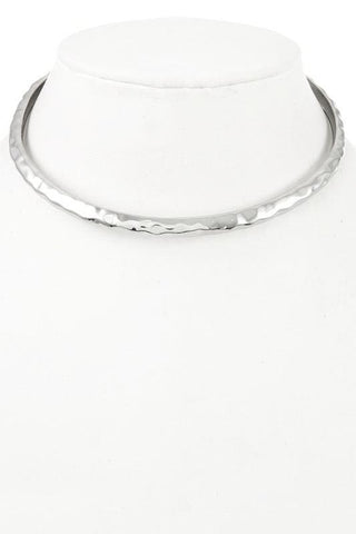 hammered silver choker