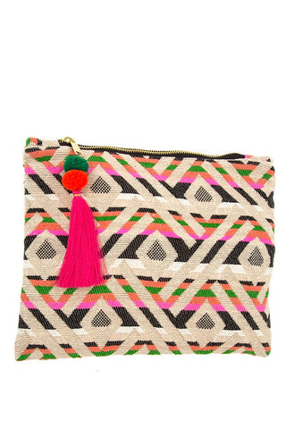 colored geo clutch
