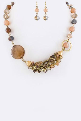hues of brown quartz set