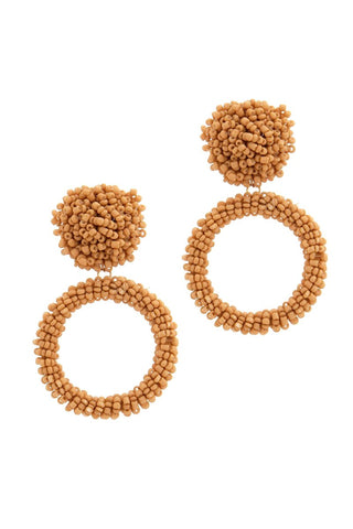 statement seed bead hoops